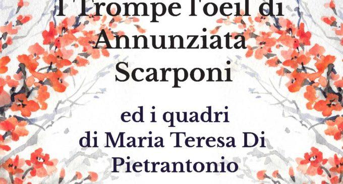 """Cerveteri, Mostre artistiche: lungo la balconata di Piazza Risorgimento Annunziata Scarponi con la mostra di """"Trompe l'oeil"""""""