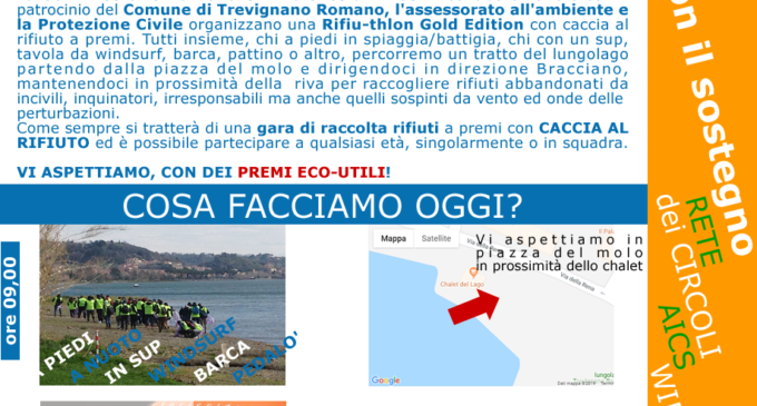 "Ambiente AICS: A Trevignano ""Rifiuthlon"" caccia al rifiuto"