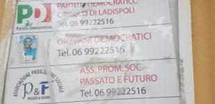 Ladispoli, Atto vandalico al Circolo del PD