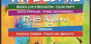 Vivi l'Estate con il Rione Cerenova Costantica, tra musica e color party