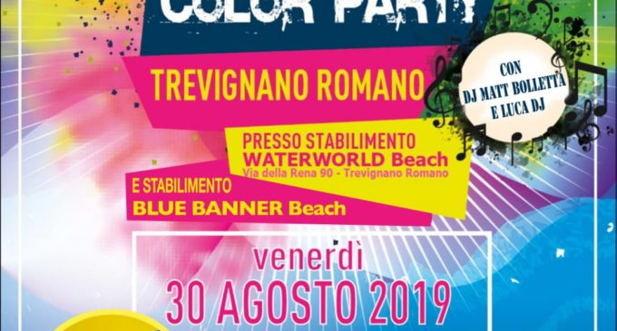 Torna il color party a Trevignano Romano – 30 agosto 2019