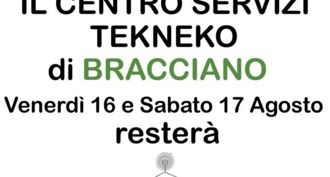 Bracciano, la Tekneko nei giorni 16 e 17 agosto sarà chiusa