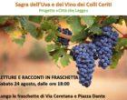 Cerveteri, Sagra dell'Uva e del Vino dei Colli Ceriti: la Biblioteca organizza letture nelle fraschette