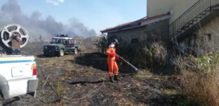 Manziana, incendio divampa in via del Condottino