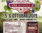 """Oriolo: Al via alla II edizione di """"Vini Autentici"""" – 5 e 6 ottobre"""