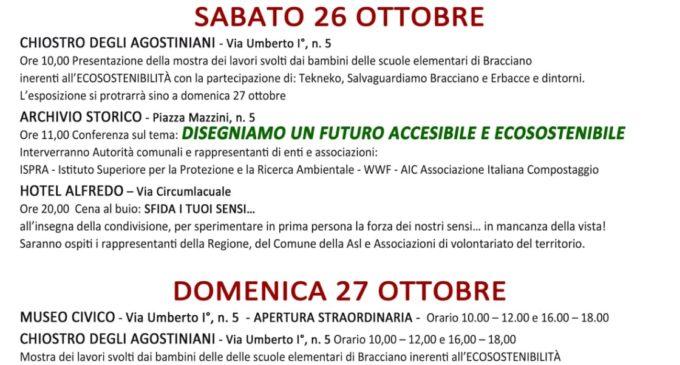 """Bracciano: Giornate dedicate al """"Futuro accessibile e ecosostenibile"""" – Sabato 26 e Domenica 27 ottobre"""