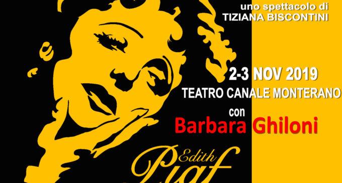 2-3 novembre Teatro di Canale Monterano, spettacolo con Barbara Ghiloni