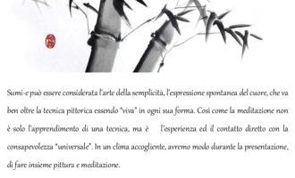 """A Trevignano il 9 novembre, la presentazione del corso """"Sumi – e pittura e meditazione"""""""