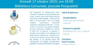 """Bracciano: Presentazione del libro """"In Riva al Male"""", Giovedì 17 ore 16:00 presso la Biblioteca Comunale"""
