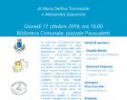 """Bracciano: Oggi alle ore 16 la Presentazione del libro """"In Riva al Male"""", presso la Biblioteca Comunale"""