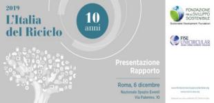 """""""Italia del Riciclo 2019"""" Roma, il 6 dicembre"""