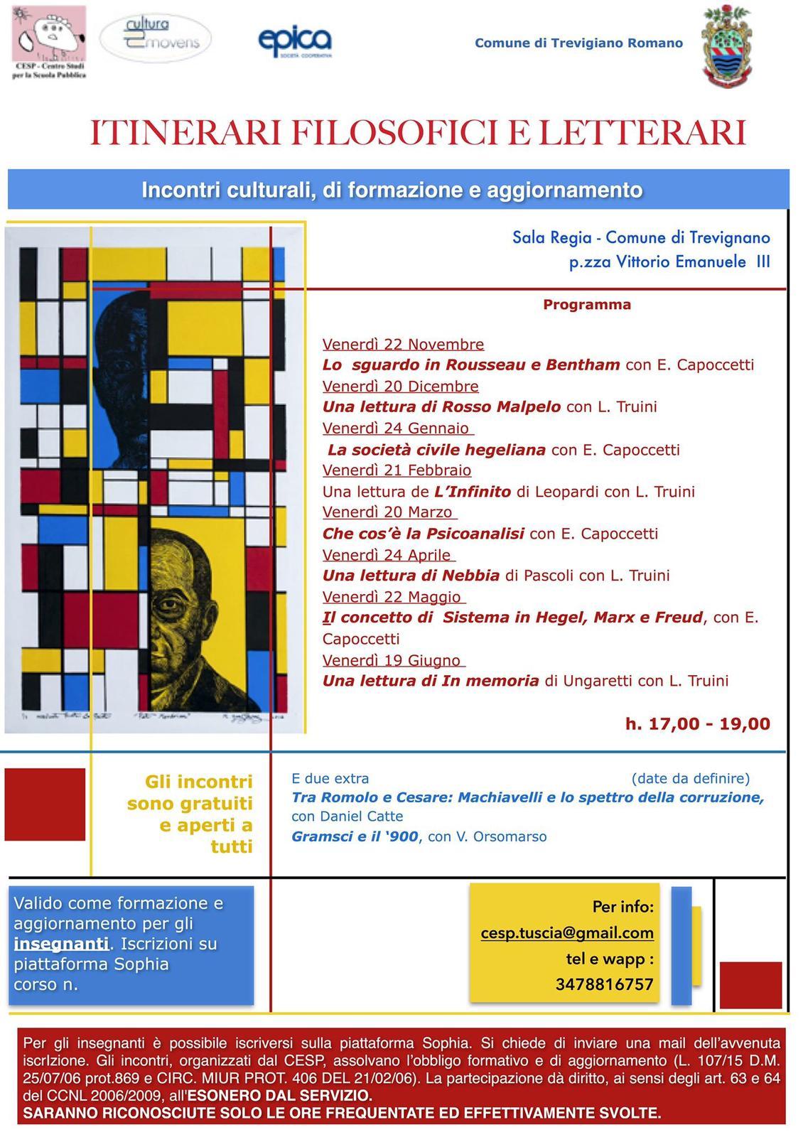 """Trevignano Romano: """"Un weekend di cultura"""" Programmazione - L'agone"""