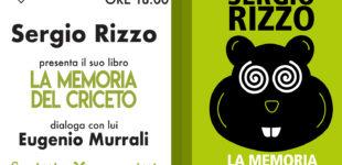 """Ladospoli: """"Scritti d'autore"""" con Sergio Rizzo  Sabato 23 novembre ore 18.00"""