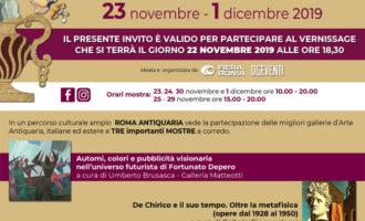 """A Roma la """"Fiera dell'antiquariato"""" dal 22 novembre al 1 dicembre 2019"""