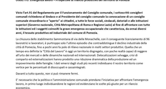"""Consigliere Stefano Mengozzi: """"A Pomezia l'emergenza lavoro è ormai una tragedia davanti a cui non si può stare fermi"""""""