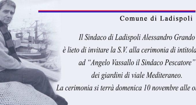 Ladispoli: I giardini di viale Mediterraneo intitolati ad Angelo Vassallo