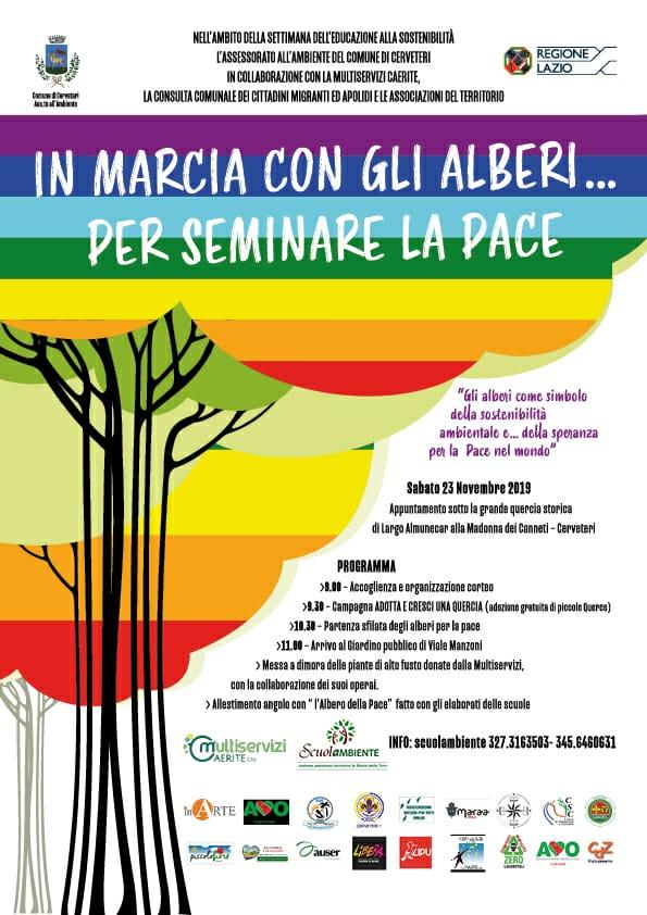 """Cerveteri, """"In marcia con gli alberi… per seminare la Pace"""": una giornata dedicata al territorio e ai cittadini - L'agone"""
