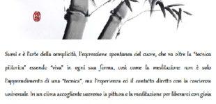 Corso esperienza Sumi- e: pittura e meditazione con Kinuko e Saralo,