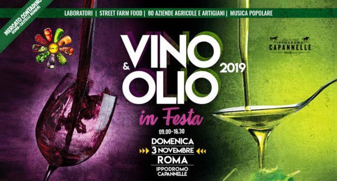 """A Roma """"Vino e Olio in festa"""" Domenica 3 novembre"""
