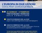 Trevignano Romano, due lezioni sull'Europa Sabato 25 gennaio e 8 febbraio 2020