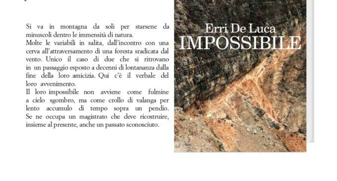 """Bracciano, Erri De Luca presenta """"Impossibile"""" Giovedì 30 gennaio ore 17:30, Archivio Storico"""