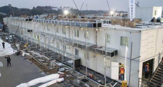 Cina Coronavirus: Costruito in tempo record nuovo Ospedale a Wuhan