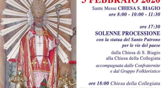 Anguillara il 3 febbraio celebra San Biagio ore 17 presso la Chiesa di San Biagio
