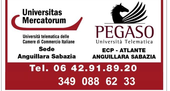 Università Pegaso & Mercatorum per la formazione di alta qualità. Presso Centro studi Atlante Anguillara Sabazia
