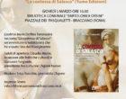 """EVENTO ANNULLATO """"LA CONTESSA DI SALASCO"""" di M.Delfina Tommasini (VIDEO) il 5 marzo ore 16 presso Biblioteca comunale"""