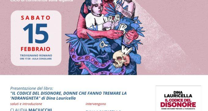 """Trevignano: Sabato 15 febbraio la presentazione del libro di Dina Lauricella """"il codice del disonore"""""""