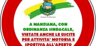 Manziana: con ordinanza del Sindaco vietate le attività all'aperto
