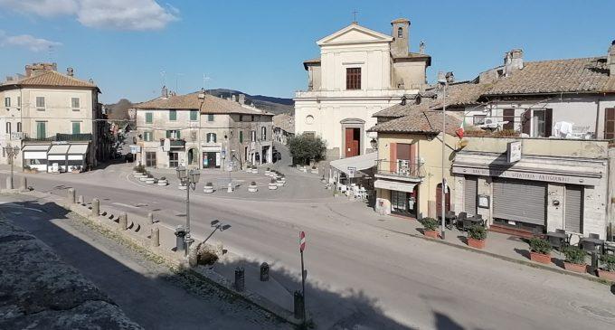ORIOLO ROMANO  Piazza Claudia chiusa per Coronavirus