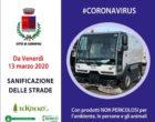 Ladispoli – Covid 19, da Venerdì 13 Marzo sanificazione delle strade