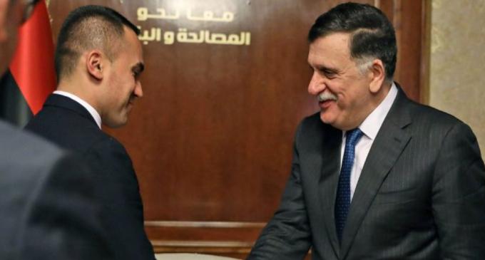 Libia, Di Maio incontra Serraj