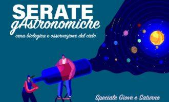 VENERDÌ 10 LUGLIO, SPECIALE GIOVE E SATURNO ALLA NUOVA SERATA GASTRONOMICA
