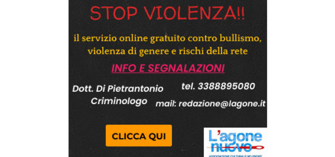 """Nasce """"STOP VIOLENZA"""" il servizio online gratuito contro ogni forma di violenza"""