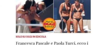 Francesca Pascale e Paola Turci: la foto del bacio sullo yacht