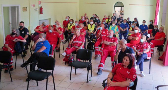"""Lezione sul """"Comportamento del Soccorritore sul luogo del crimine"""" organizzata ad Oriolo dal Comitato Croce Rossa di Capranica."""