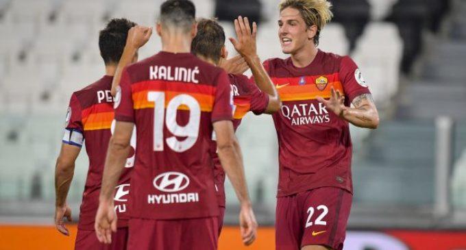 Juventus-Roma 1-3. Roma qualificata all'Europa league. Video