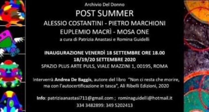 POST SUMMER MOSTRA DI OPERE ARTISTICHE IN VIALE MAZZINI A ROMA
