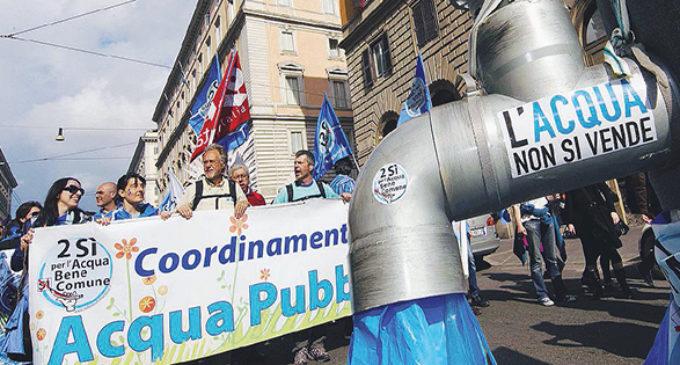 Referendum: si scrive acqua, si legge democrazia e si vota NO!