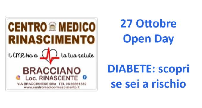 Open Day, Bracciano 27 Ottobre: Diabete, scopri se sei a rischio