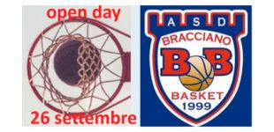 ASD BRACCIANO BASKET: Open Day il 26 settembre