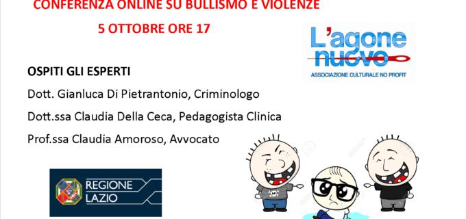 """Videoconferenza """"Bullismo e Violenze"""" – Lunedì, 5 ottobre ore 17"""