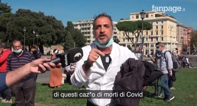 Opinioni raccolte fra i negazionisti, video a cura di Andrea Scanzi