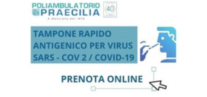 Poliambulatorio Praecilia, Manziana: prenotazioni online per le analisi, tampone rapido