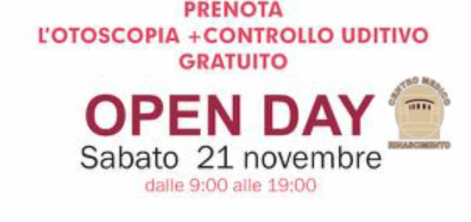 Centro Medico Rinascimento: open day, otoscopia + controllo uditivo, 21 Novembre 2020