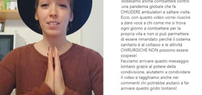 """Martina Luoni e il suo appello-denuncia: """"Ho 26 anni e un cancro, se gli ospedali non reggono siamo tutti responsabili"""""""